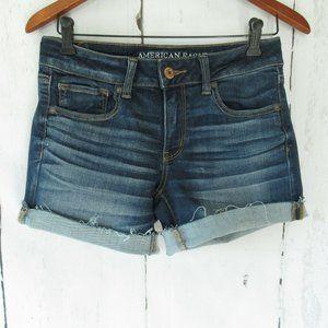 American Eagle Midi Shorts Denim Jeans Frayed